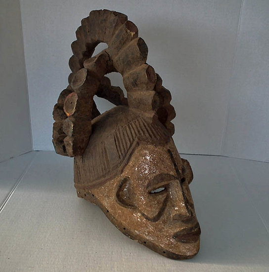 African Maiden Spirit Helmet Mask Agbogho Mmwo Igbo Nigeria