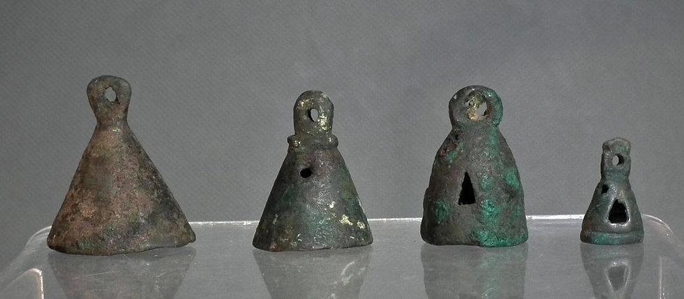 Ancient Bronze Chariot Bells – Pendants Caspian Sea Region 1000 BC