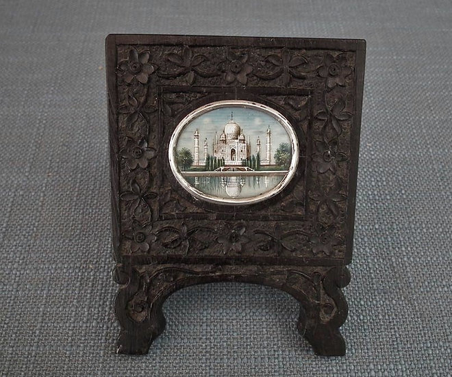 Antique Indian Miniature Painting Taj Mahal 19th Century Islamic India