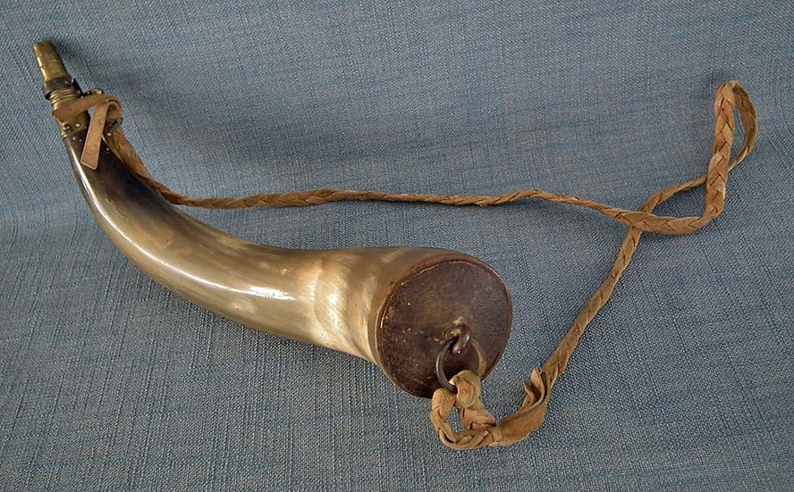Antique 19th Century 1812 War American Rifleman's Gun Powder Horn