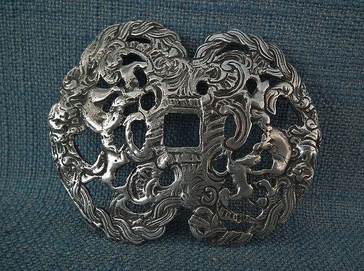 Antique 18th Century Silver Small Sword Double Shell Guard