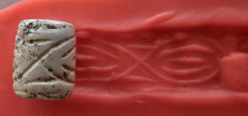 Ancient Near Eastern Stone Cylinder Seal 3300-2900 BC
