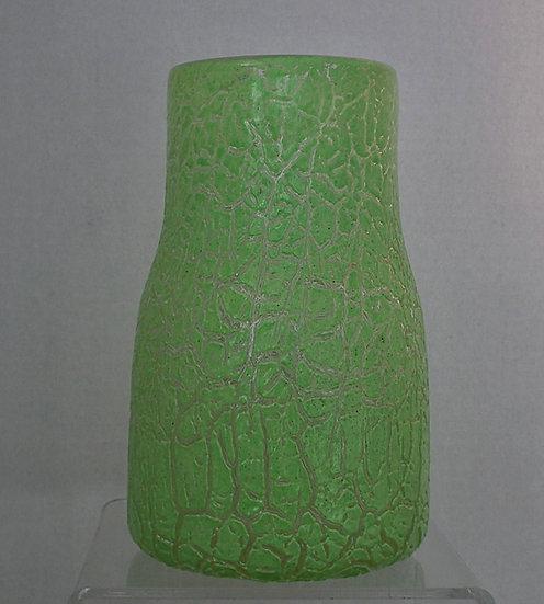 Art Deco Scottish Art Glass Vase Monart Scotland In Rare Cloisonné Technique