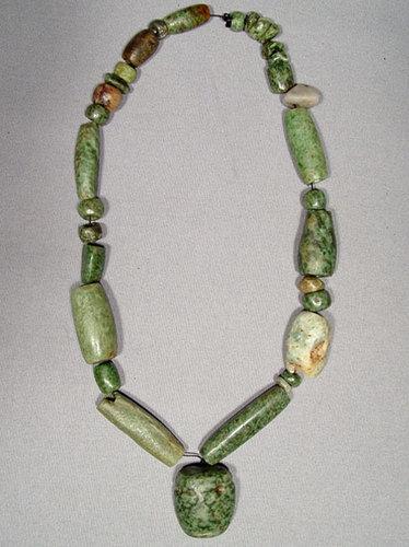 Ancient Mayan Jade Pre Columbian Necklace 500-950 AD