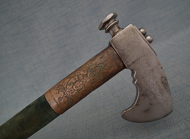 Antique 17th century Polish-Hungarian Battle Axe Czekan Obuszek