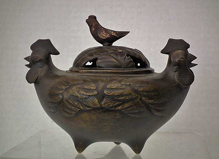 Antique Chinese 17th -19th c Qing Dynasty Bronze Incense Burner Censer