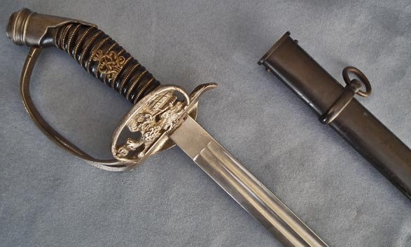 Rare Model 1889 Imperial German Prussian Officer's Sword Degen