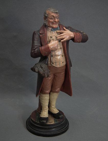 Antique Bohemian Czech Bernard Bloch Polychrome Majolica Butler Figurine