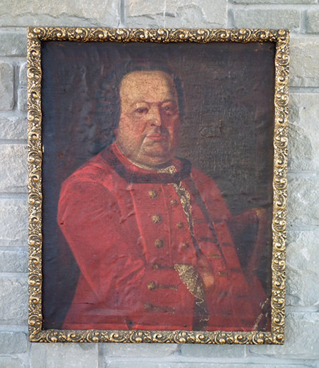 Antique Polish Saxon Officer Portrait 18th century Oil Painting