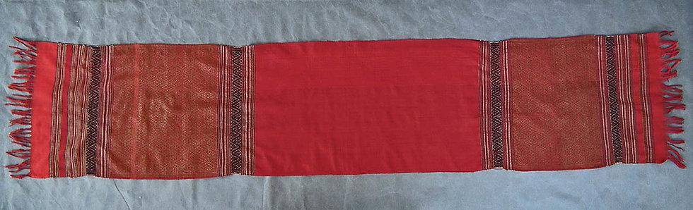 Antique Islamic Indonesian Hand-Woven Silk Selendang- Songket 19th century