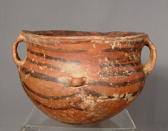 SOLD  Antique Chinese Neolithic Majiayao Ceramic Pot
