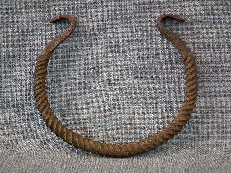 Ancient Celtic Bronze Torc - Torque 7th-3rd century B.C. Necklace