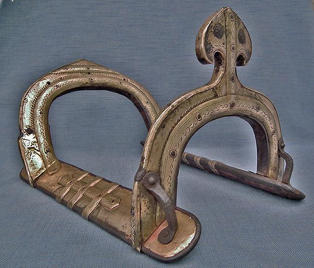 Antique 18th century Islamic Mughal Warrior's Saddle India or Pakistan