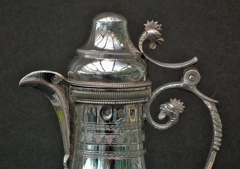 Antique 19th Century Turkish Ottoman Islamic Silver Coffee Pot Kahvedan
