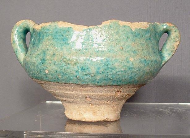 Ancient Ceramic Wine Cup Persian Sassanian