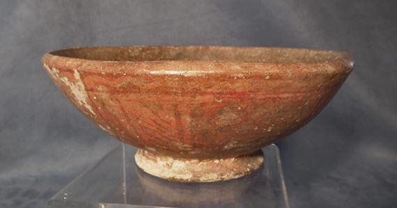 Ancient Ceramic Pre Columbian Mayan Polychrome Bowl