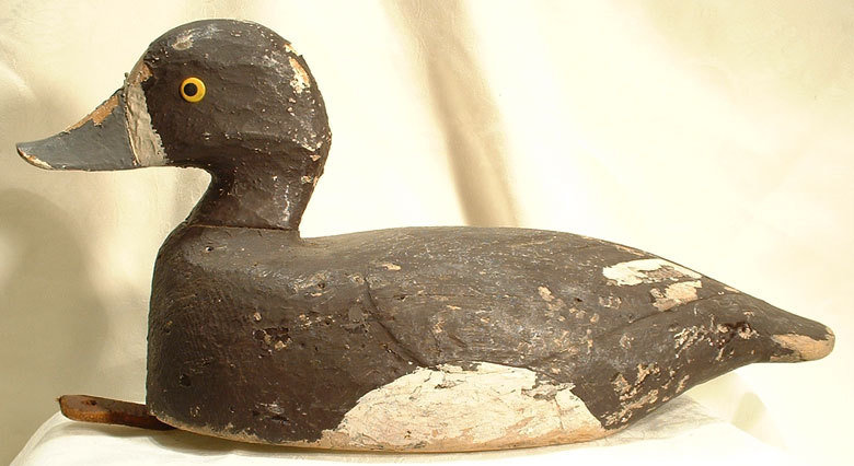 Antique Hand Carved Duck Decoy 19th c (2)