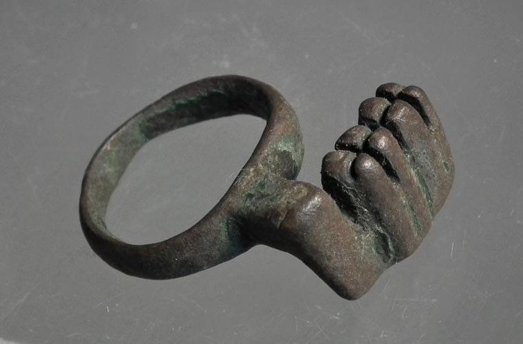 Ancient Roman Bronze Key Ring 100-300 A.D.