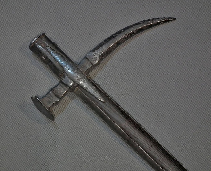 Antique late 16th - 17th Polish - Hungarian Huge War Hammer Nadziak