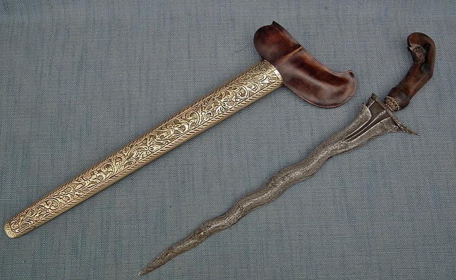 Antique Javanese Indonesian Islamic Sword Dagger Kris Keris