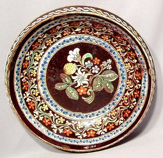 Antique European Ceramic Dish 18th Century