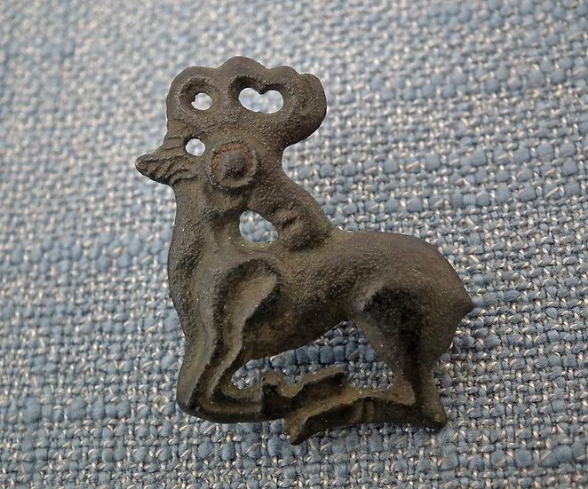 Ancient Scythian Bronze  Deer Fibula Brooch 6th-4th Century B.C.