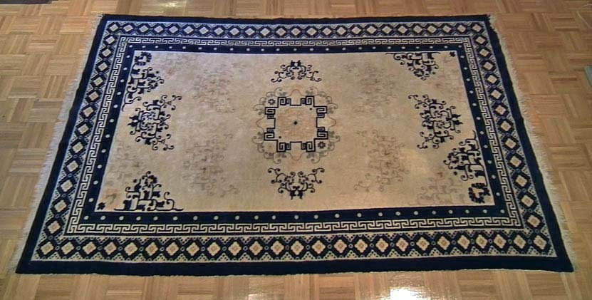 Antique Chinese Qing Dynasty Fine Ningxia - Ning Hsia Rug Carpet