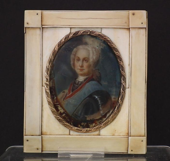 Antique 18th-19th Century Imperial Russian Miniature Portrait of a Russian Duke