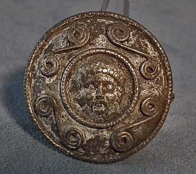 Ancient Roman Silver Military Armour Phalera with Marcus Aurelius 2nd c AD