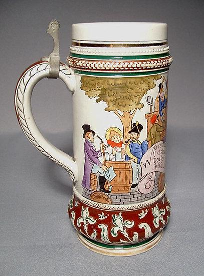 Antique Beer Stein Matthias Girmscheid 19th century