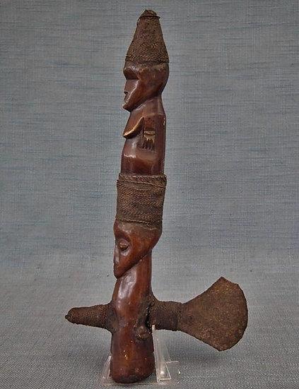 Antique African Figural Ceremonial Shaman Axe