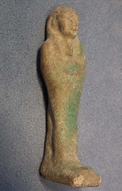 Ancient Egyptian Faience Ushabti - Shabti ca.800-300 B.C.