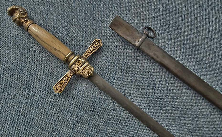 Antique American Civil War N.C.O. Militia Infantry Officer's Sword