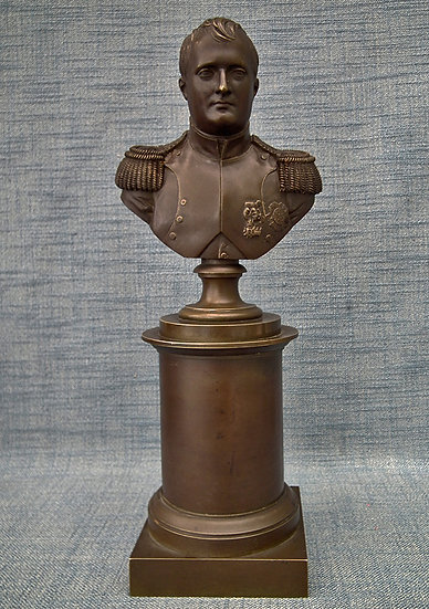 Antique 19th Century Bronze Sculpture Busts Of Napoleon Bonaparte