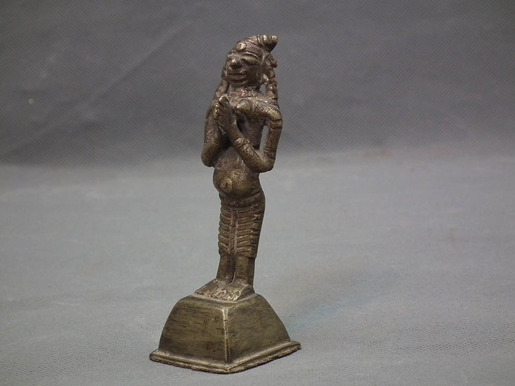 Antique Indian Hindu Bronze Deity Sculpture 18th century