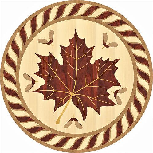MRO001B Maple Leaf Medallion