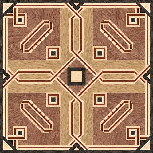 MSQ004 Square Medallion, 'Balance'