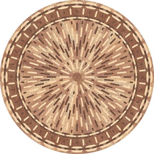 MRO024 Round Medallion, 'Rays'