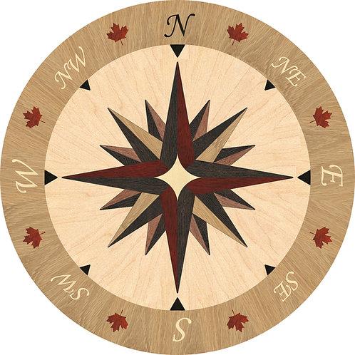 MRO002D Round Medallion, Compass Rose