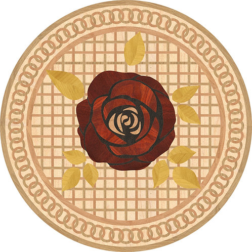 MRO019 Round Medallion, Rose