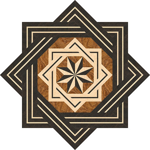 M8S002D 8-Star Traditional Medallion