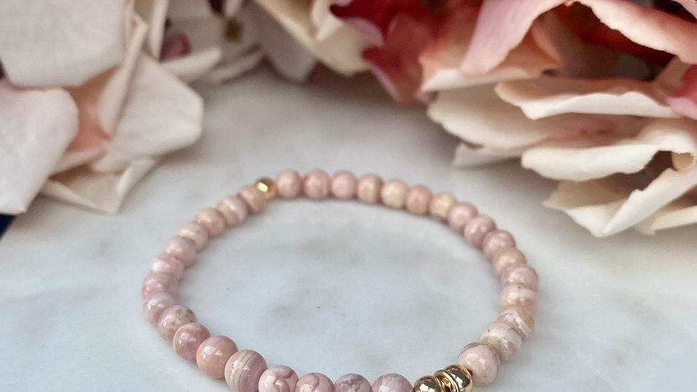 Rhodochrosite Love Me Tender Bracelet