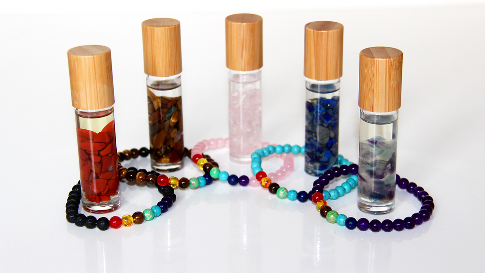 Chakra Bracelet and Crystal Roller Mix and Match Set