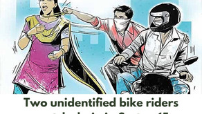 Two unidentified bike riders snatch chain in Sector-15