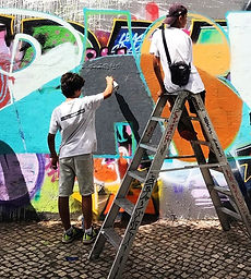graffiti workshop, street art, urban art, Lisbon, kids and teens