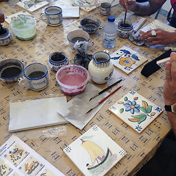 azulejo, painting workshop, fun activities for kids and families, ceramic tiles