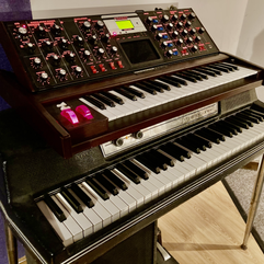 Our Wurli and Moog Voyager