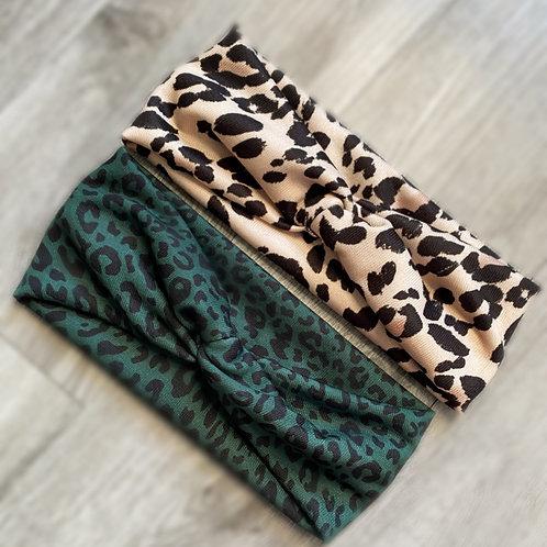 Leopard Print Twist Knot Headband