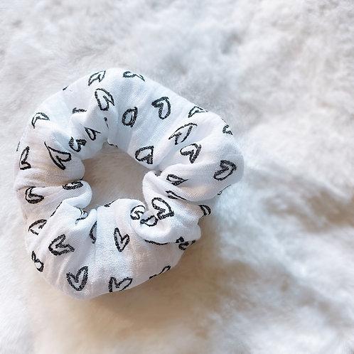 Heart Print Scrunchie