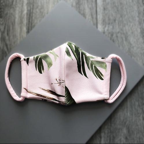 Pink Tropical Print Mask